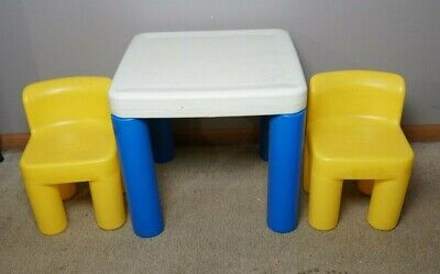 Vintage Little Tikes Table and Chairs Set Ages 2 - 6 Years Child Size Chunky