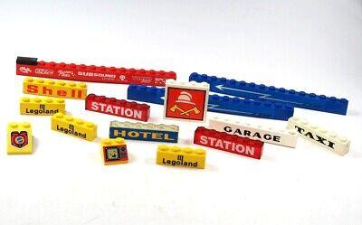 Shell 1 Licht (LEGO® City Licht Stein bedruckt beklebt Sondersteine Feuerwehr Station Shell S1)