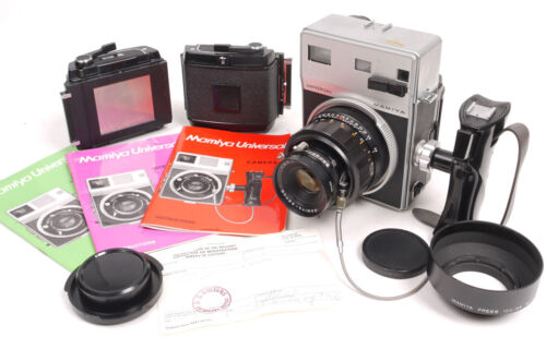 Mamiya Universal Press w/127mm Sekor/G Adapter/3X RB67 120 Film Backs - EX+++