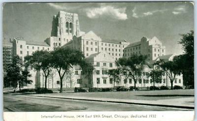 Chicago  Illinois  Il     International House  Student Housing  C1920s  Postcard