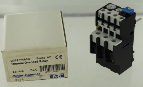 EATON CUTLER HAMMER C316-FNA3K OVERLOAD RELAY NEW