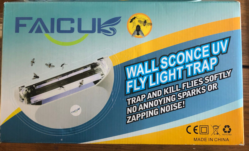 Faicuk WS108 Wall Sconce Fly Light Trap for Capturing Flies, Moths, Gnats, Mosqu