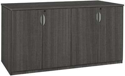 Contemporary Office Credenza Cabinet Storage Furniture Mahogany Cherry 72 New