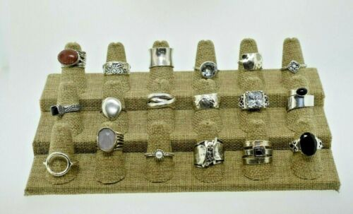 SILPADA DESIGNER Lot of 18 Sterling Gemstone Statement Rings Bands Various Sizes