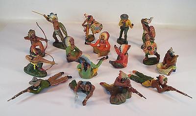 Elastolin / Lineol Masse Figuren Wildwest Konvolut mit 16 Figuren #132
