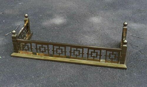 Antique Heavy Brass Fireplace Fender Aesthetic Victorian Art Deco ??