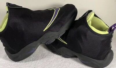 0b9bc611e2857 Nike Air Zoom Flight THE GLOVE 1 GARY PAYTON BLACK PURPLE VOLT GP Sz 10.5
