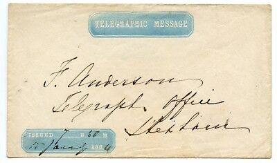 """Scarce 1864 """"Telegraphic Message"""" cover used within the Shetland Islands."""