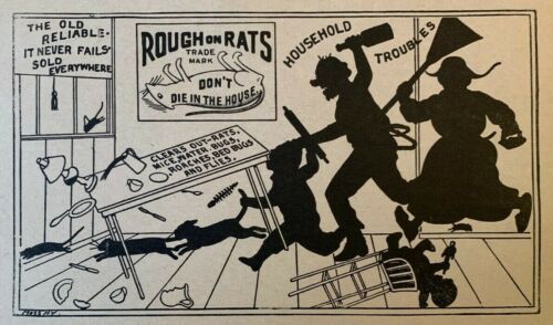 1882 RAT POISON BROADSIDE Rough on Rats QUACK MEDICINE REMEDY Roaches Bed Bugs