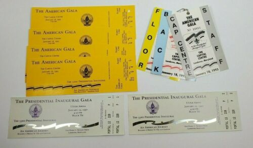 1993 1997 Presidential Inaugural Gala Tickets and passes