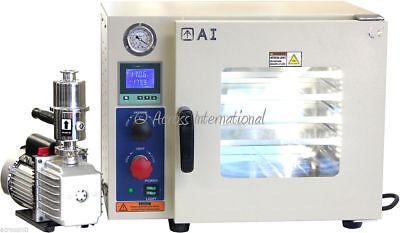 Ai 5-sided 220v 0.9 Cf Vacuum Oven W St St Tubing 220v 6 Cfm Pump