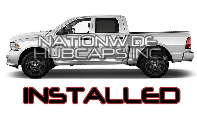 "4 BLACK 2013-18 Ram 1500 Truck 17/"" Wheel Skins Hub Caps 5 Spoke Alloy Rim Covers"
