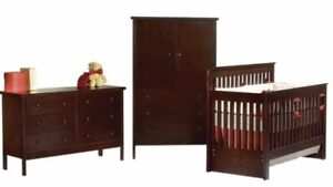 Canadian Made, High-Quality Wood Baby Crib Set Furniture