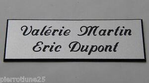 plaque de boite aux lettres porte personnalis e 2 lignes ft 25x75 mm ebay. Black Bedroom Furniture Sets. Home Design Ideas