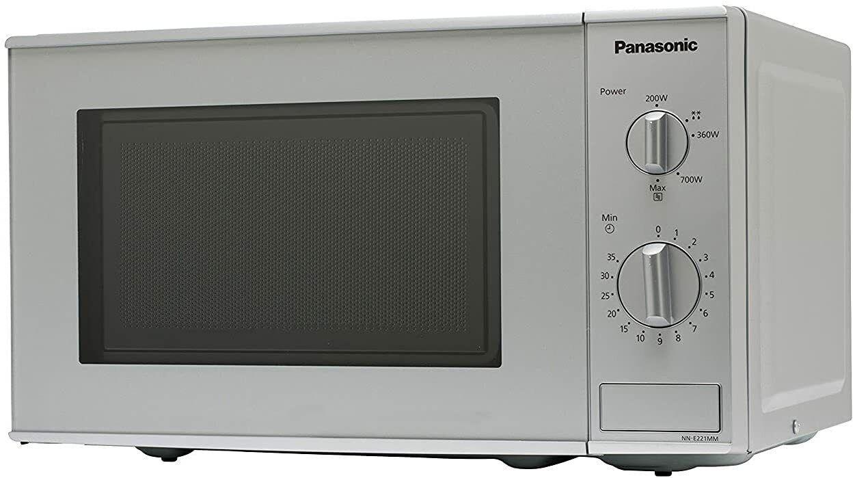 Panasonic NN-E221MMEPG  Mikrowelle, 20 Liter, 800W, 5 Stufen Microwave, silber