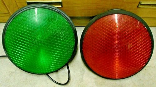 "Dialight 12"" Red Stop Green Go Traffic Signal Light Street Road Safety w/ Gasket"