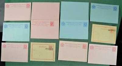 CURACAO 10 STAMP COVER CARDS WRAPPERS PRE STAMPED UNUSED  (A74)