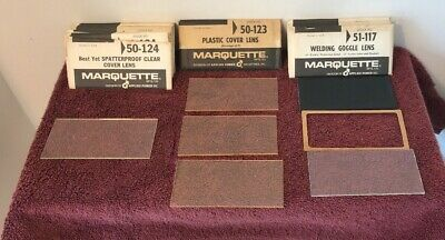 Lot Of 15 Nos Vintage Welding Goggle Helmet Lenses Marquette Mfg. Co.