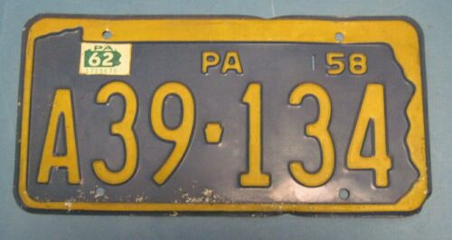 1962 Pennsylvania License Plate