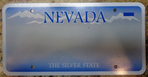 Nevada Sample License Plate Prototype Blank