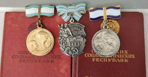 2 medals and 1 Order of Maternal Glory + doc100% ORIGINAL USSR