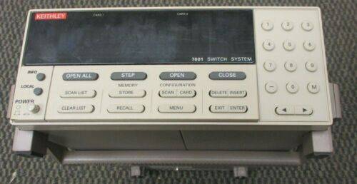 KEITHLEY 7001 SWITCH SYSTEM, NO CARDS, TESTED GOOD