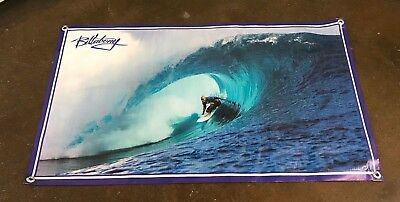 - Billabong surfing poster board wetsuit banner skate sign shorts cap blue B148