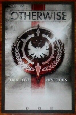 OTHERWISE True Love Never Dies Ltd Ed Poster+FREE Rock Poster SHINEDOWN VOLBEAT