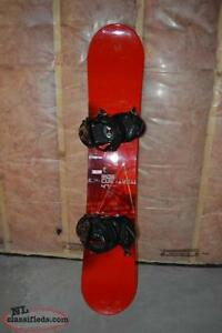 Ride Cue Snowboard & K2 Sonic Bindings