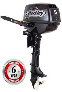 Mint 5HP Berkley Outboard motor.