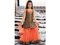 Need three week notice Kidds Asian Pakistani Indian leghna party dress
