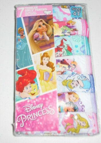 Disney Princess Ariel Cinderella 7 Cotton Panty Underwear Toddler Girls 4T NIP