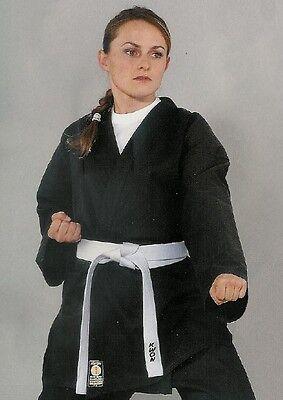 Kwon Karate Jacke black. 8Oz, 100% Baumwolle, 160 od.170cm. Budo Sport,Wing Tsun