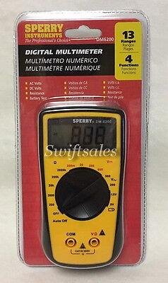 Sperry Instruments Dm6200 Digital Multimeter Four Function Manual Range - New