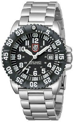 Luminox 3152 Navy Seal Colormark Black Dial Stainless Steel Mens Watch