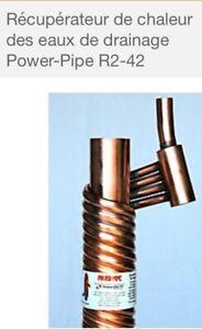 Power pipe -récupérateur de chaleur des eaux de drainage