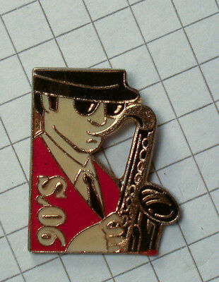 PIN ROCK ´N ROLL BLUES SAXOPHONE  - WINSTON 90´S (AN2284)