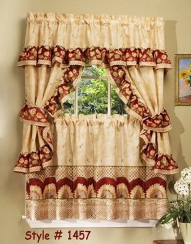 Sunflower Cottage Window Treatment Set - Size: 57 W x 36 D