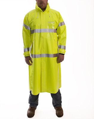 J24122 Tingley Hi-Visibility Yellow//Green Polyurethane//Polyester Rain Jacket Fits Chest Size 52 to 54 Size 2XL