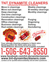 TNT DYNAMITE CLEANERS -ULTIMATE CLEANING COMPANY IN SAINT JOHN!