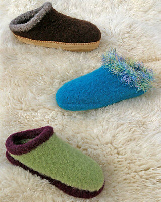 THE ORIGINAL BEST FELT CLOGS to KNIT in WORSTED WEIGHT YARN by FIBER