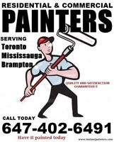 Best Local Painters Serving Toronto GTA. CALL 6474026491