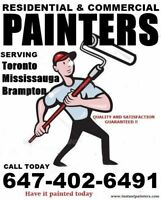 BEST INTERIOR & EXTERIOR PAINTERS SERVING  GTA CALL 6474026491
