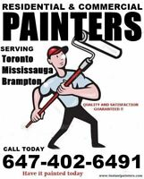 INTERIOR AND EXTERIOR PAINTERS CALL 6474026491