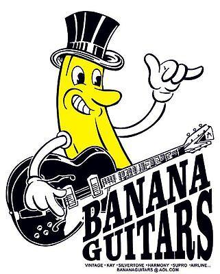 Banana Guitars T-shirt size S - XL