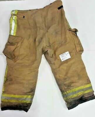 50x28 50r Firefighter Pants Bunker Turnout Fire Gear Janesville Crosstech P0112