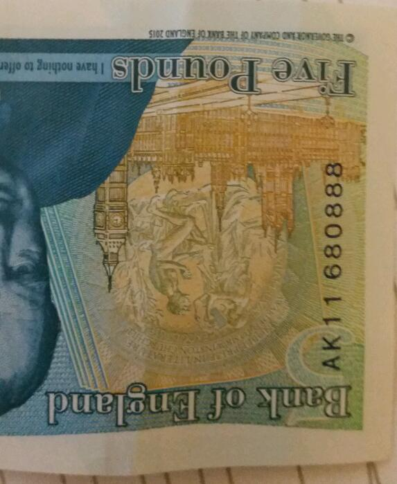 Mint £5 New Note AK11 series