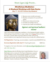 Mindfulness Meditation Workshop (Insight Tradition) May 17-20