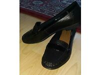 Black Real Leather Clarks shoes