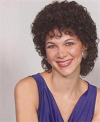 Chin Length Curly Wig - Dark Brown Curly layered Wig, below chin length - Nola